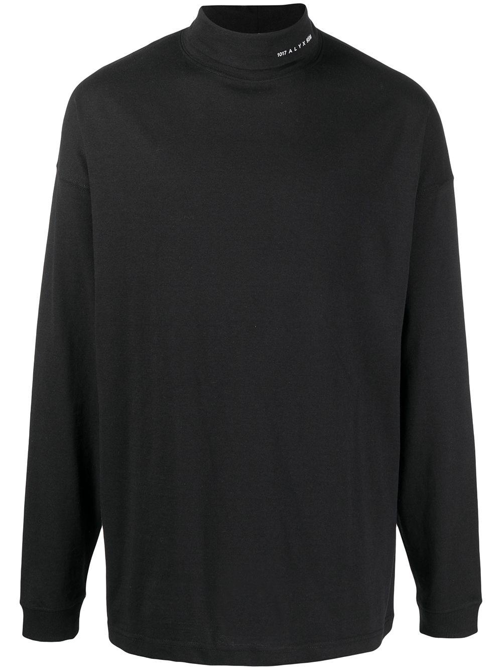 1017 Alyx 9Sm high neck long sleeve man black 1017 ALYX 9SM | T-shirts | AVUTS0021FA01BLK0001