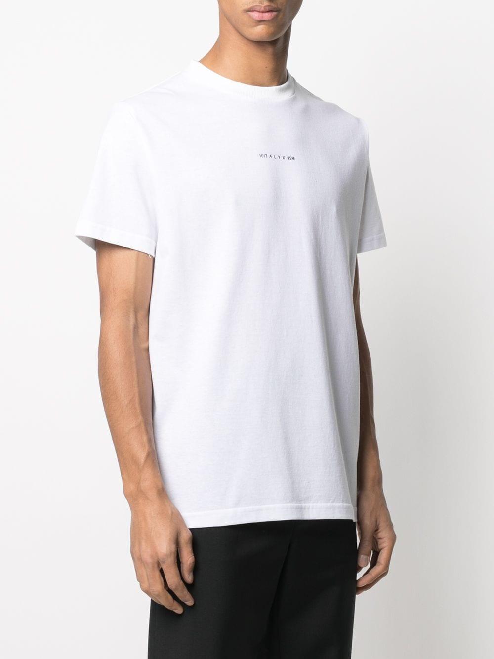 1017 Alyx 9sm logo t-shirt man white 1017 ALYX 9SM   T-shirts   AVUTS0216FA01WTH001