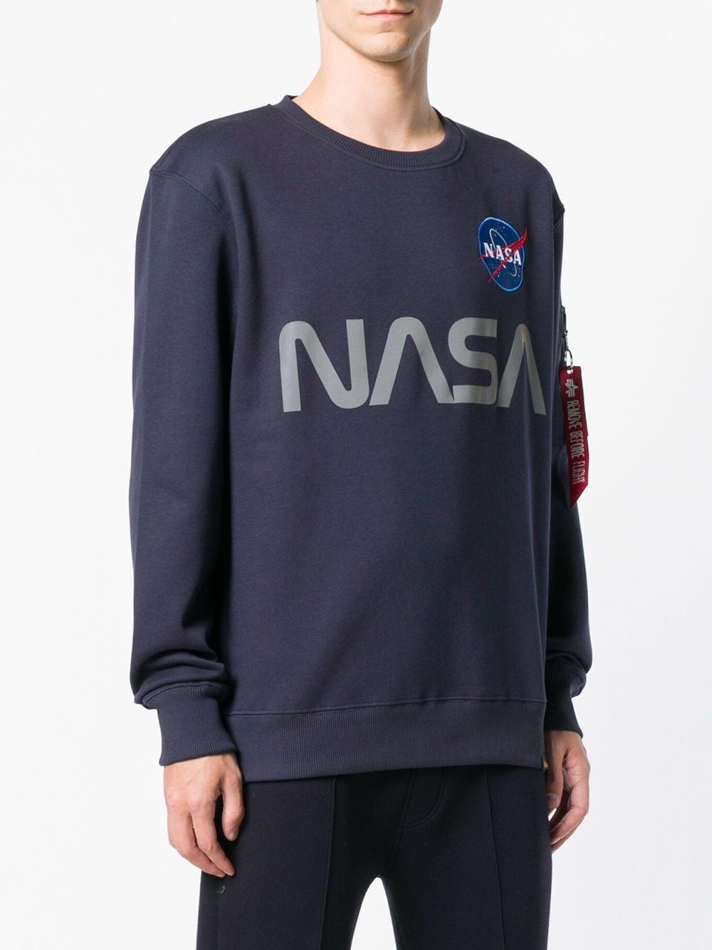NASA REFLECTIVE CREW SWEAT ALPHA INDUSTRIES | Sweatshirts | 17830907