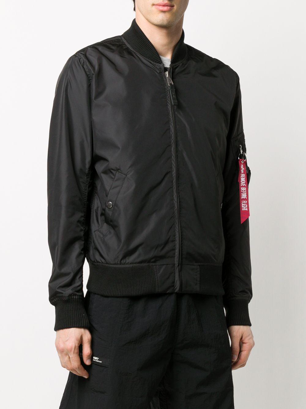 zip bomber jacket man black in nylon ALPHA INDUSTRIES   Jackets   19110303