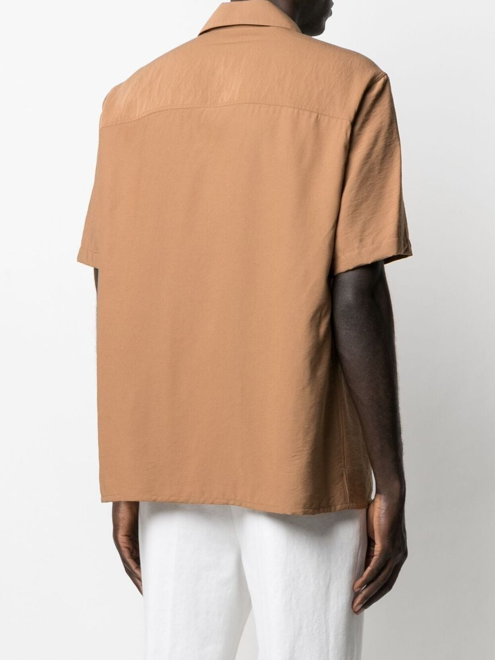 Ami Alexandre Mattiussi embroidered logo shirt man brown AMI - ALEXANDRE MATTIUSSI | Shirts | E21HC200.452250