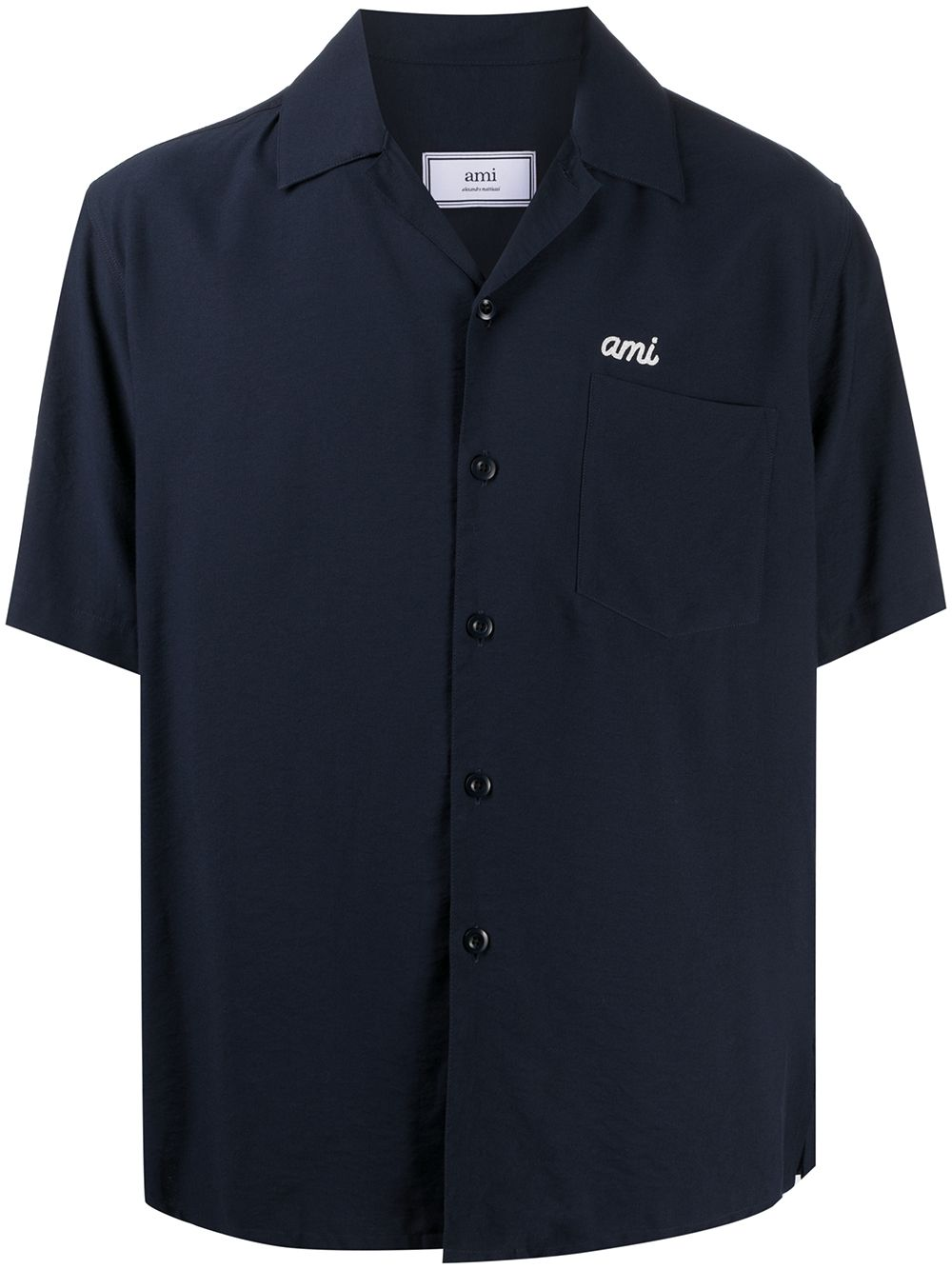 EMBROIDERED LOGO SHIRT AMI - ALEXANDRE MATTIUSSI | Shirts | E21HC200.452410