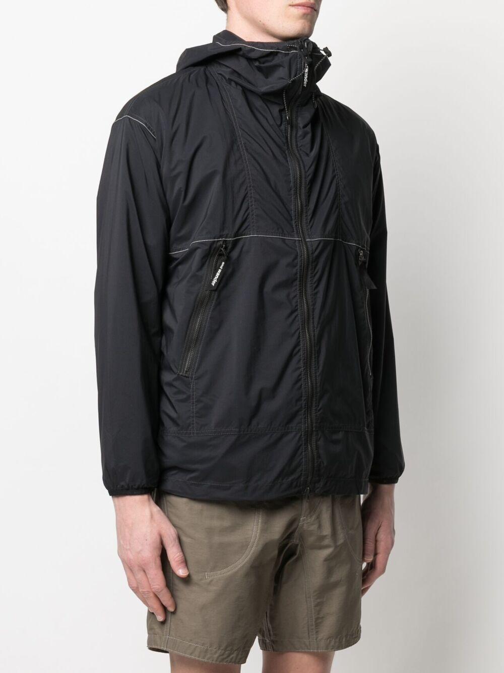 And Wander logo print lighweight jacket man black AND WANDER | Jackets | 5740921034010