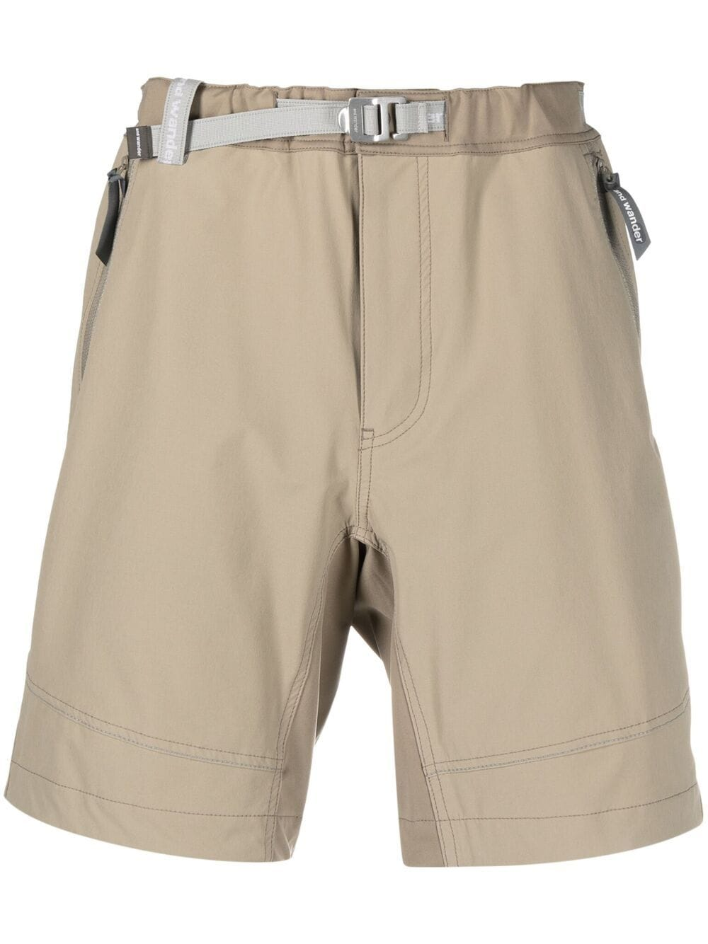 And Wander mid rise belted shorts man beige AND WANDER | Shorts | 5741122005040