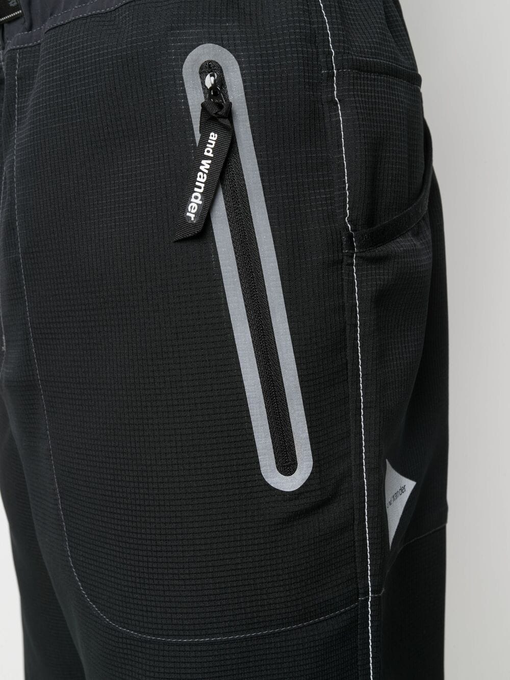 And Wander belted trousers man black AND WANDER | Trousers | 5741142054010