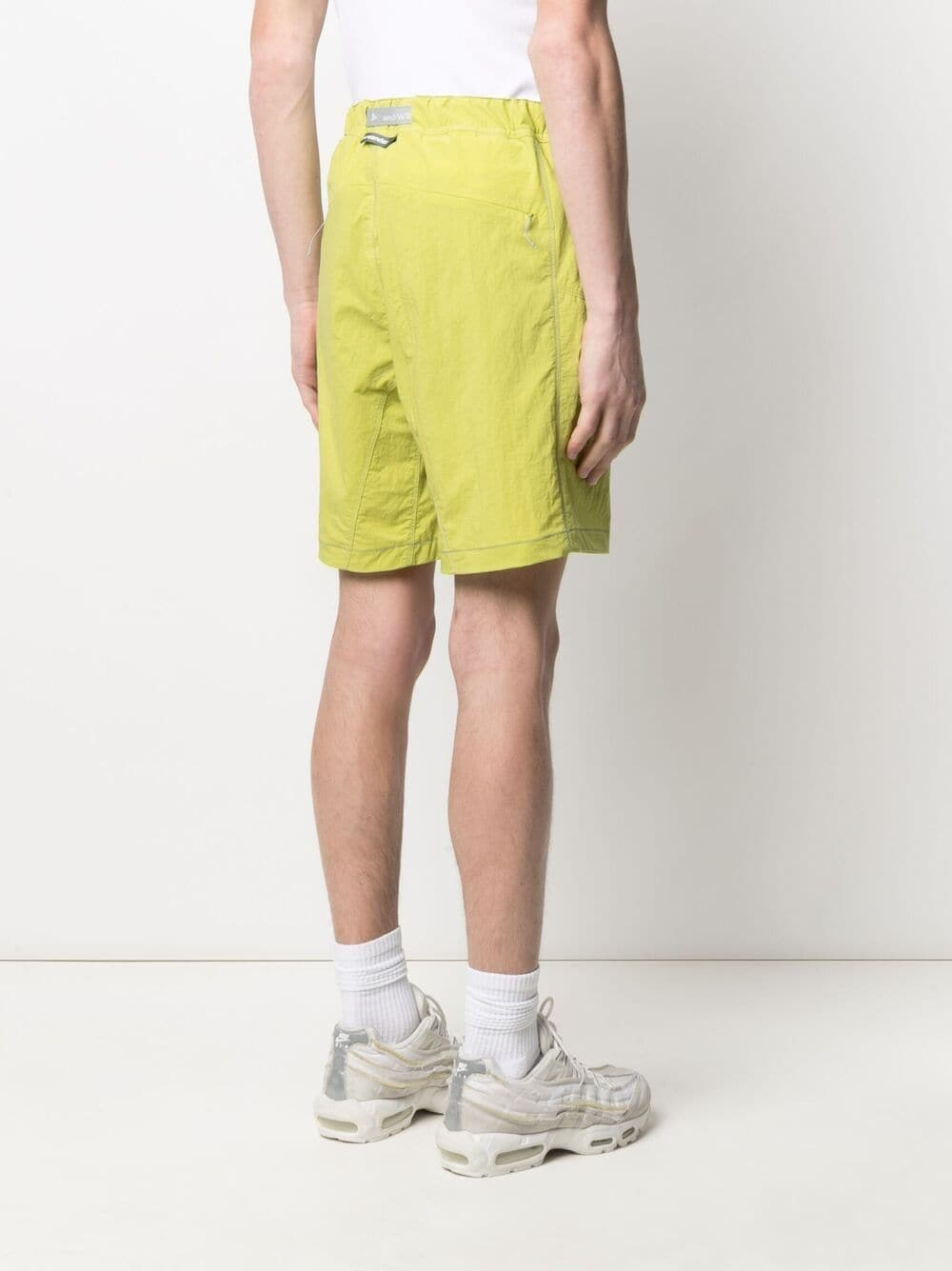And Wander belted shorts man yellow AND WANDER | Shorts | 5741152046200