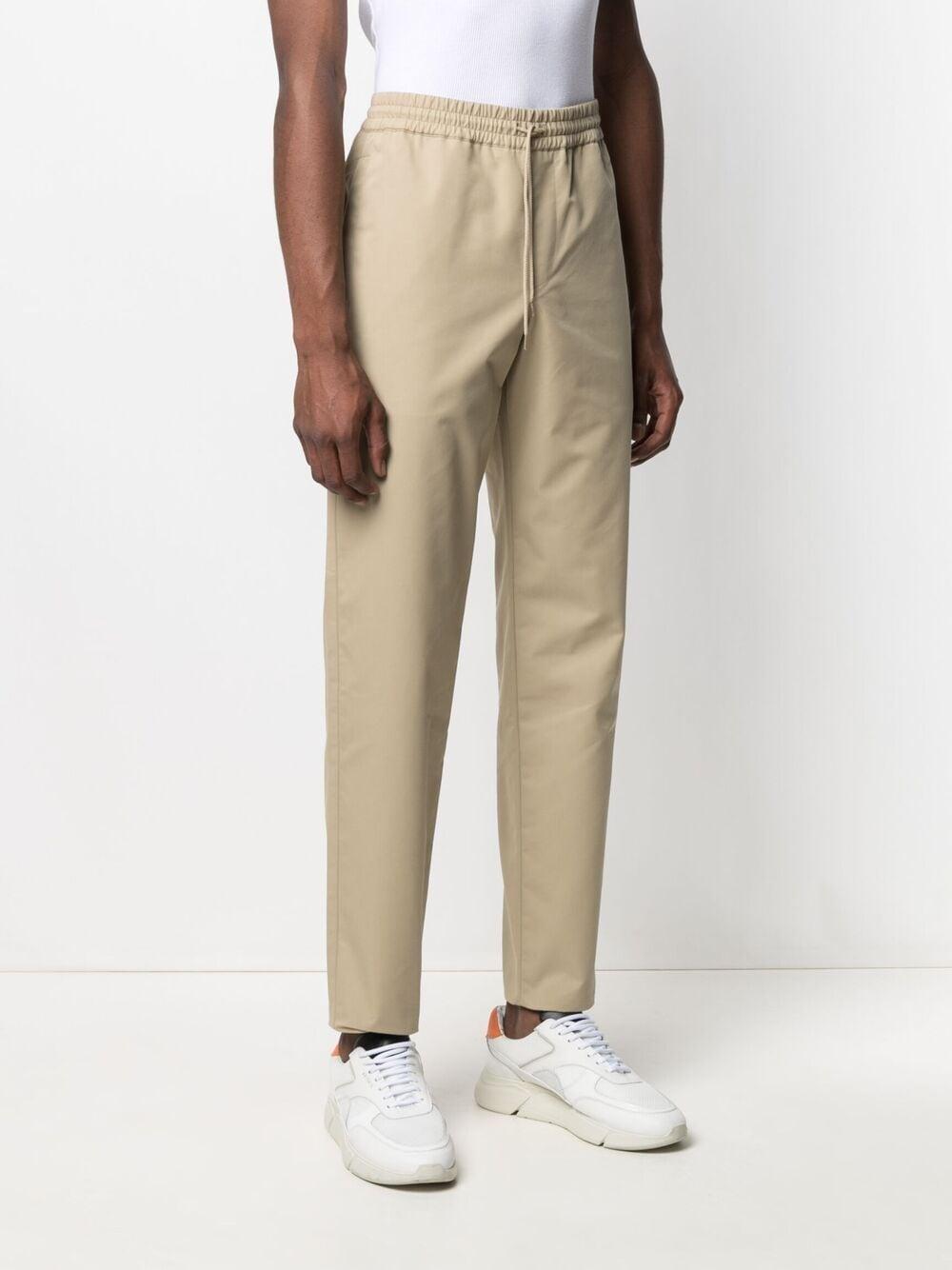 A.P.C. HIGH RISE STRAIGHT LEG TROUSERS MAN BEIGE A.P.C.   Trousers   COEQX-H08354BAA