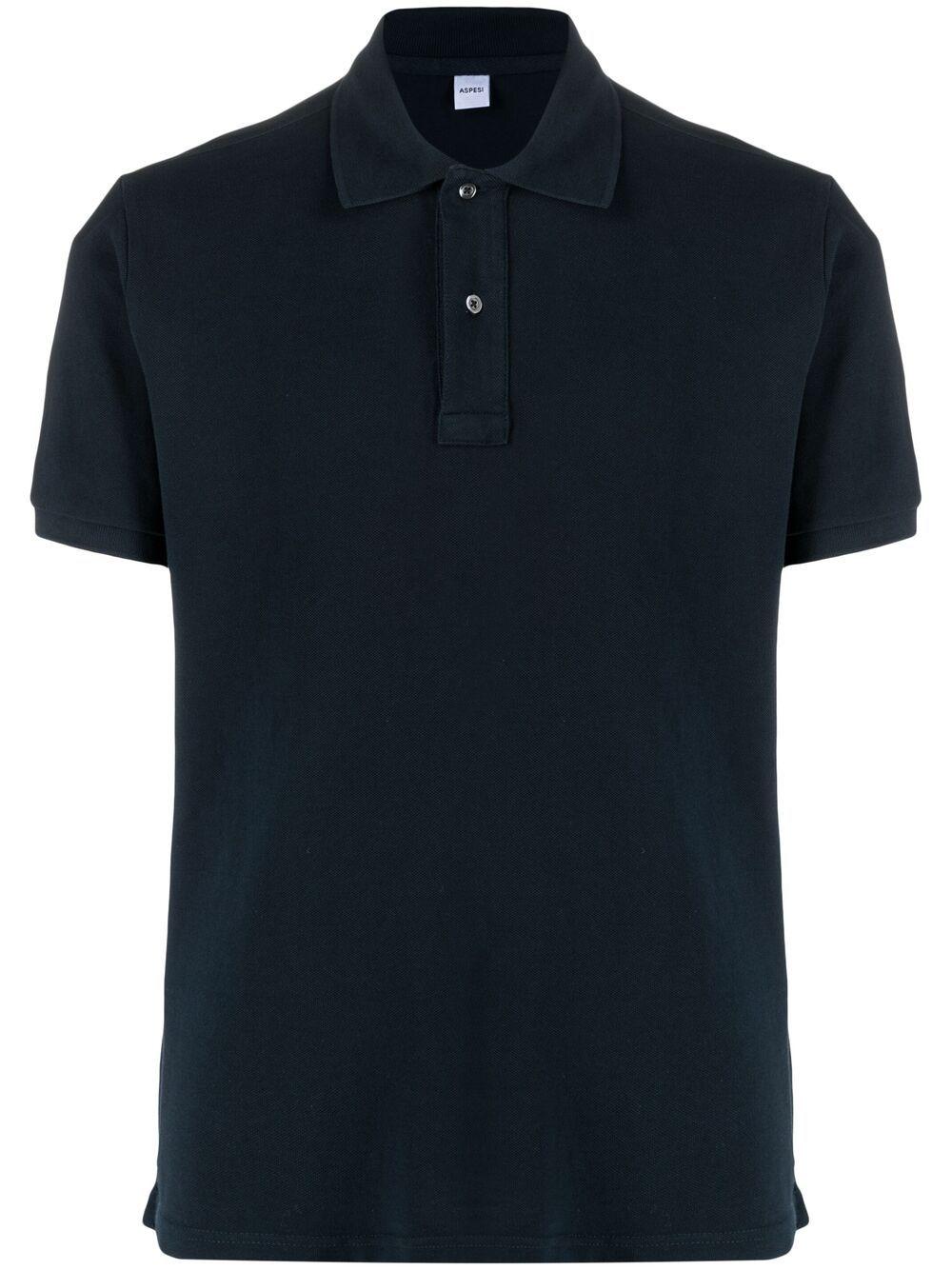 Aspesi cotton polo shirt man black ASPESI | Polo | AY08 G10685098