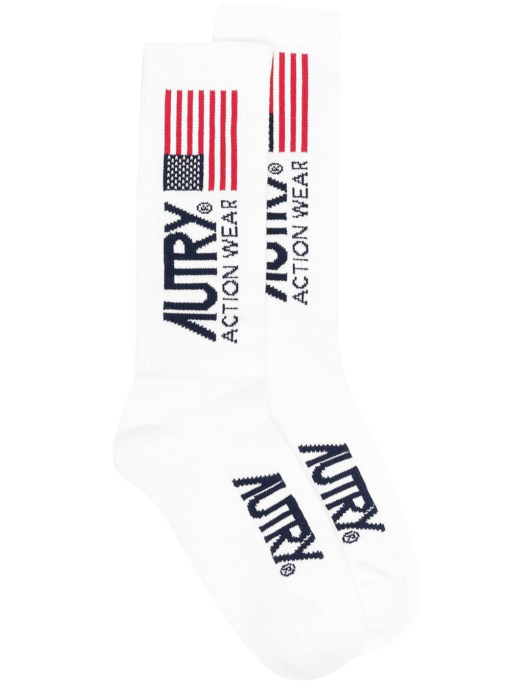Autry logo socks unisex white AUTRY | Socks | SOXWAS01