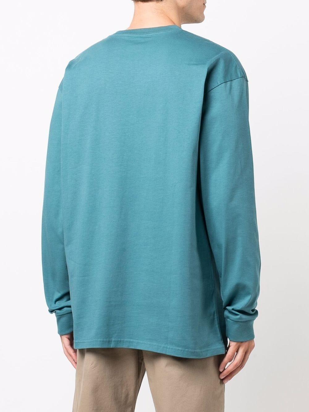 Long sleeves t-shirt Light Blue Cotton Man CARHARTT WIP | T-shirts | I0263920AC.90