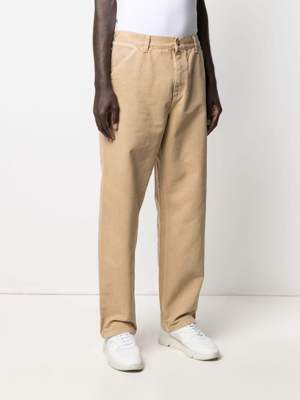 pantaloni single knee uomo beige in cotone CARHARTT WIP   Jeans   I026463.3207E.WF