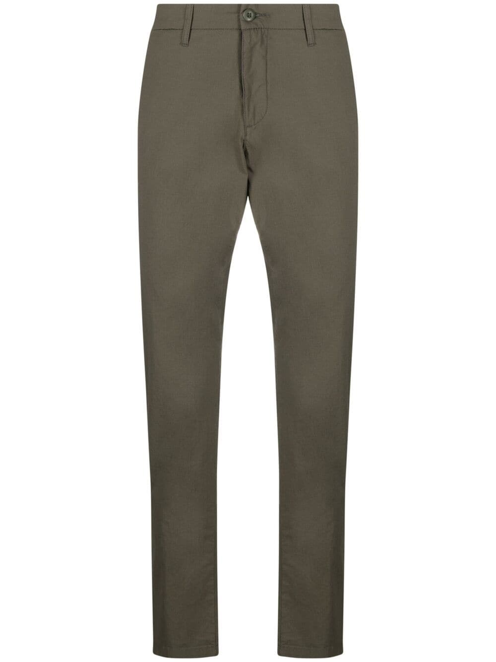 sid pants man olive green in cotton CARHARTT WIP   Trousers   I027955.32966.02