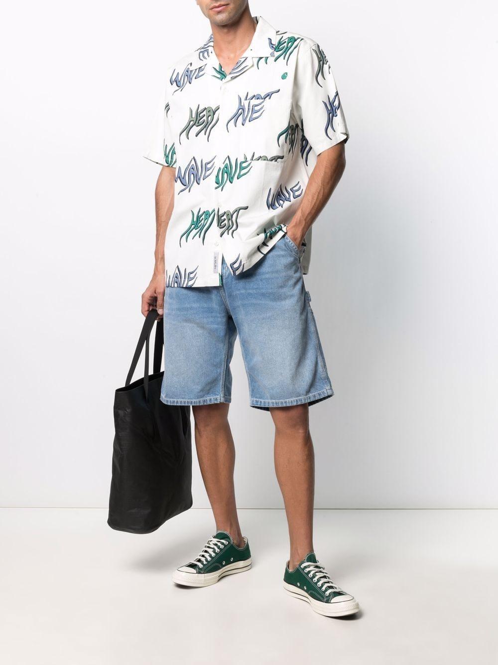 Carhartt Wip print shirt man white CARHARTT WIP | Shirts | I0287990BL.00