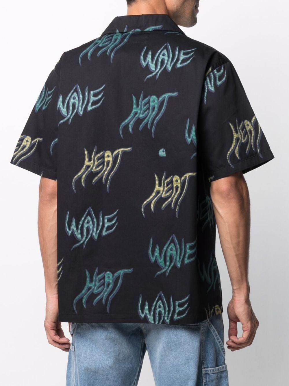 heat wave shirt man black in cotton CARHARTT WIP | Shirts | I0287990BN.00