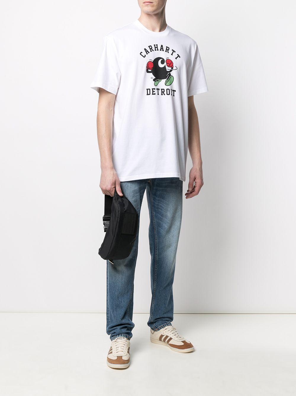 boxing t-shirt man white in cotton CARHARTT WIP | T-shirts | I02902602.00