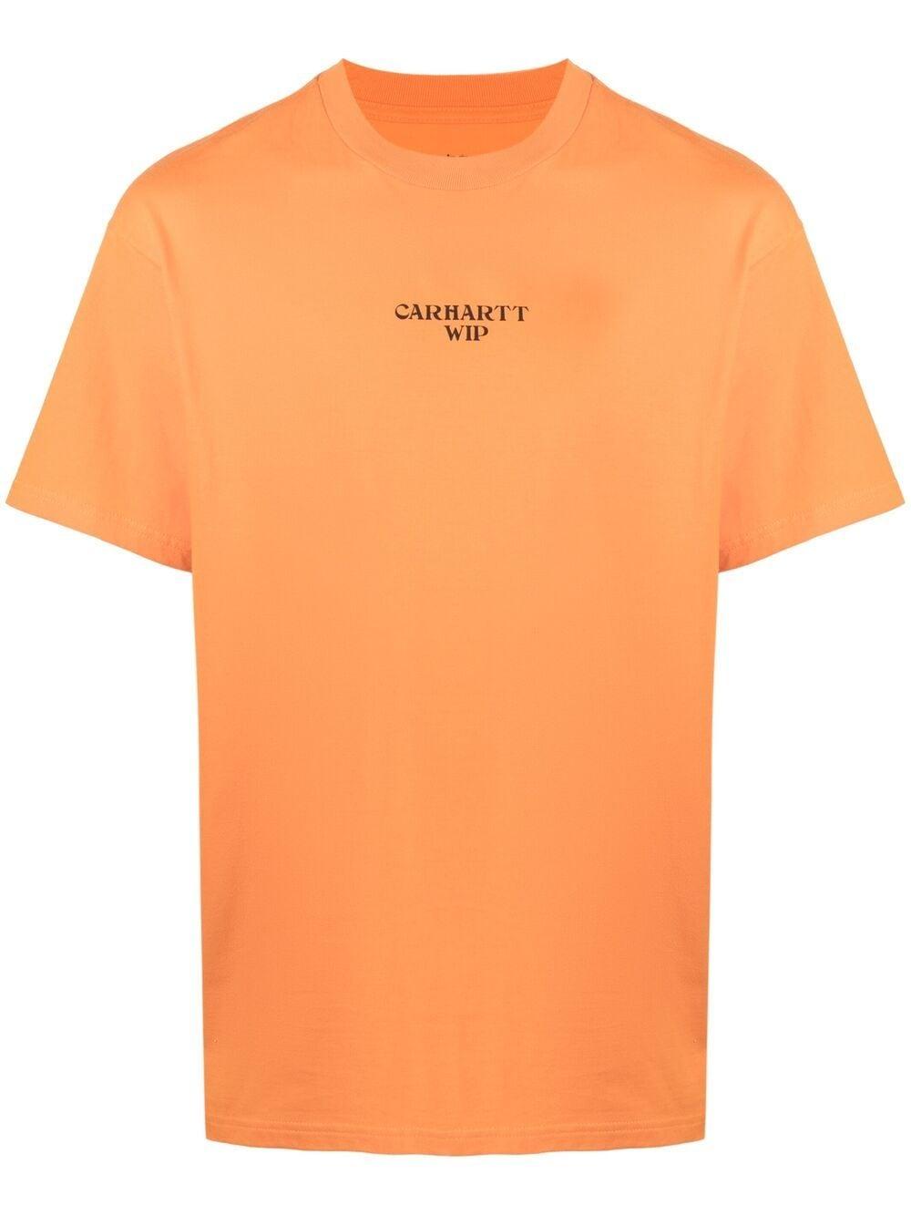 panic t-shirt man orange in cotton CARHARTT WIP | T-shirts | I0290350AN.90