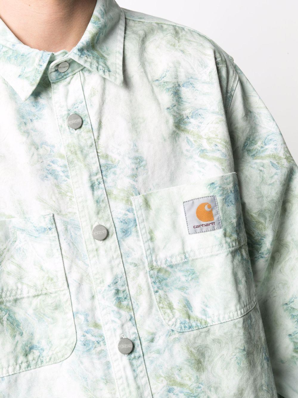 Marble shirt White in Cotton Man CARHARTT WIP | Shirts | I0291680DD.06