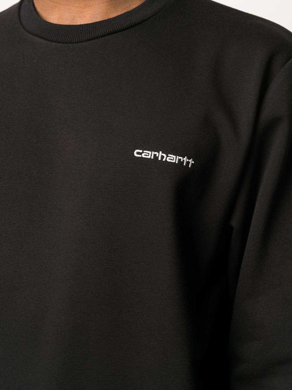 script embroidery sweatshirt man black in cotton CARHARTT WIP | Sweatshirts | I02467889.91