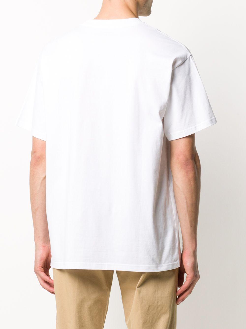 T-shirt con Logo Bianca Uomo in Cotone CARHARTT WIP | T-shirt | I02577802.90