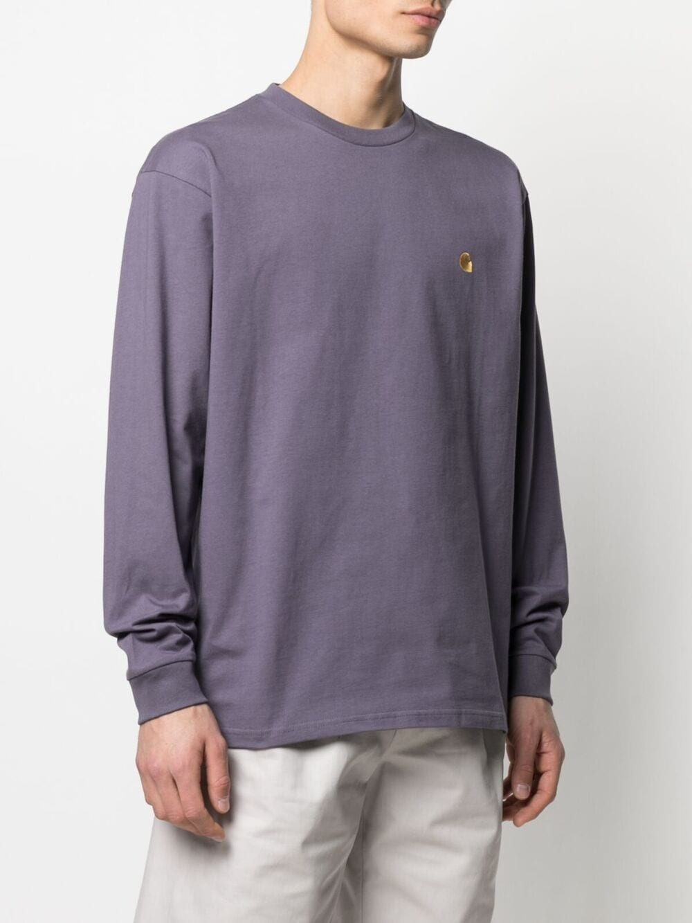 Carhartt t-shirt manica lunga chase uomo viola CARHARTT WIP | T-shirt | I026392.030AF.90