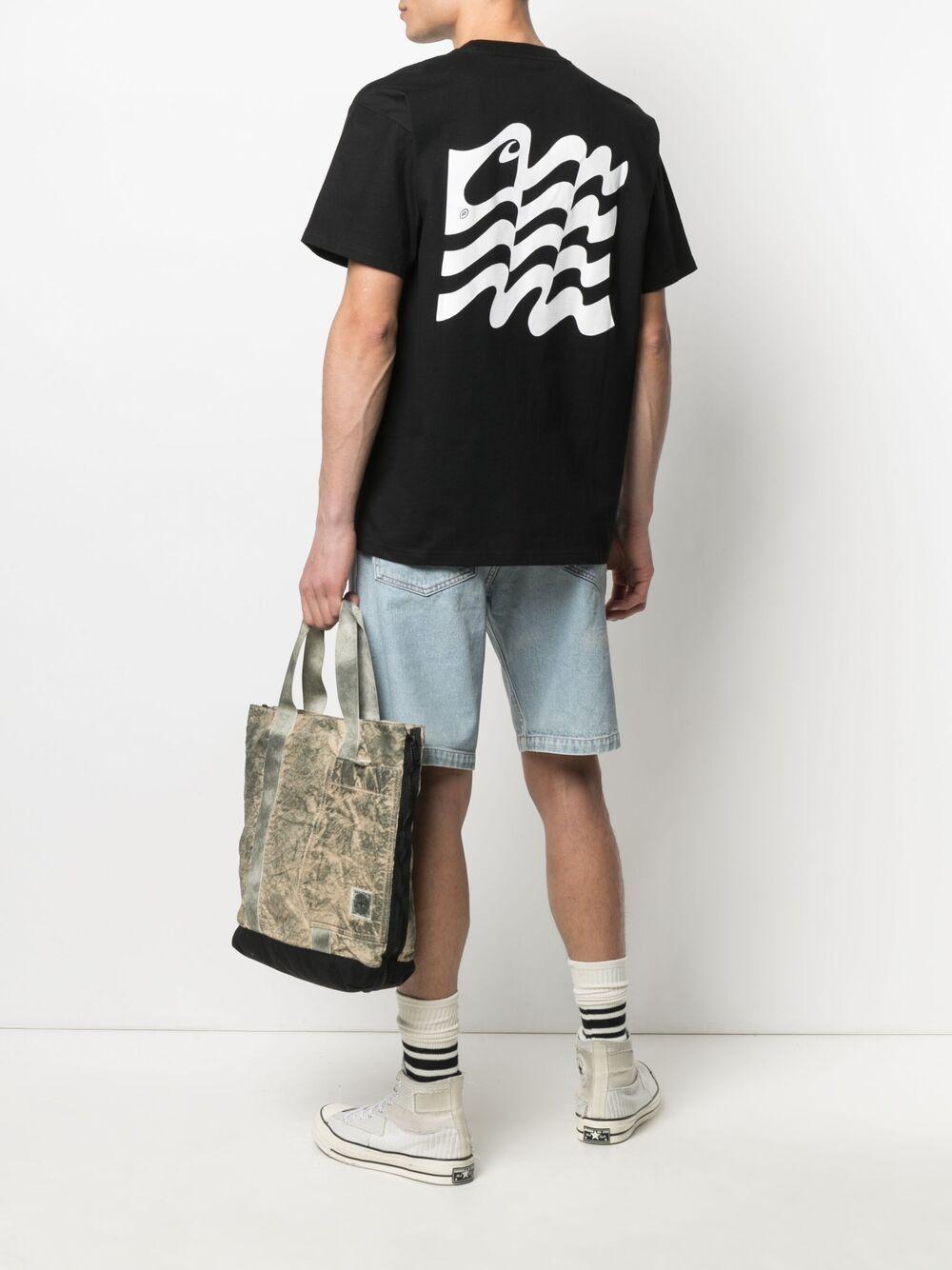 Carhartt wavy state t-shirt man black CARHARTT WIP | T-shirts | I02901189.90