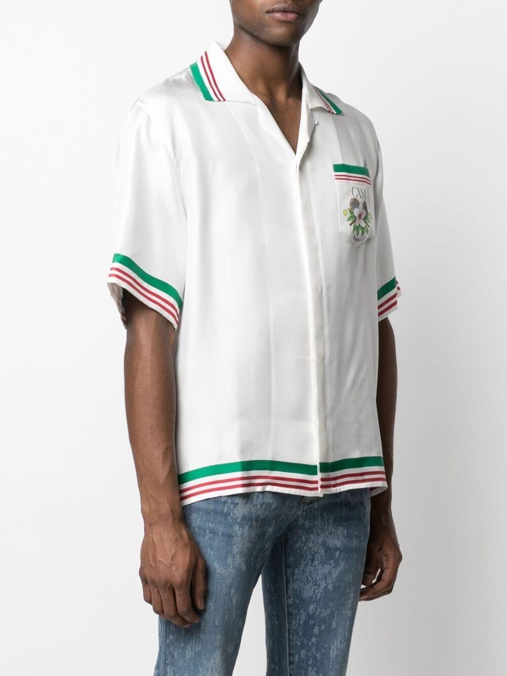 Casablanca camicia con stampa floreale uomo CASABLANCA   Camicie   M2S1-SH-014WHITE