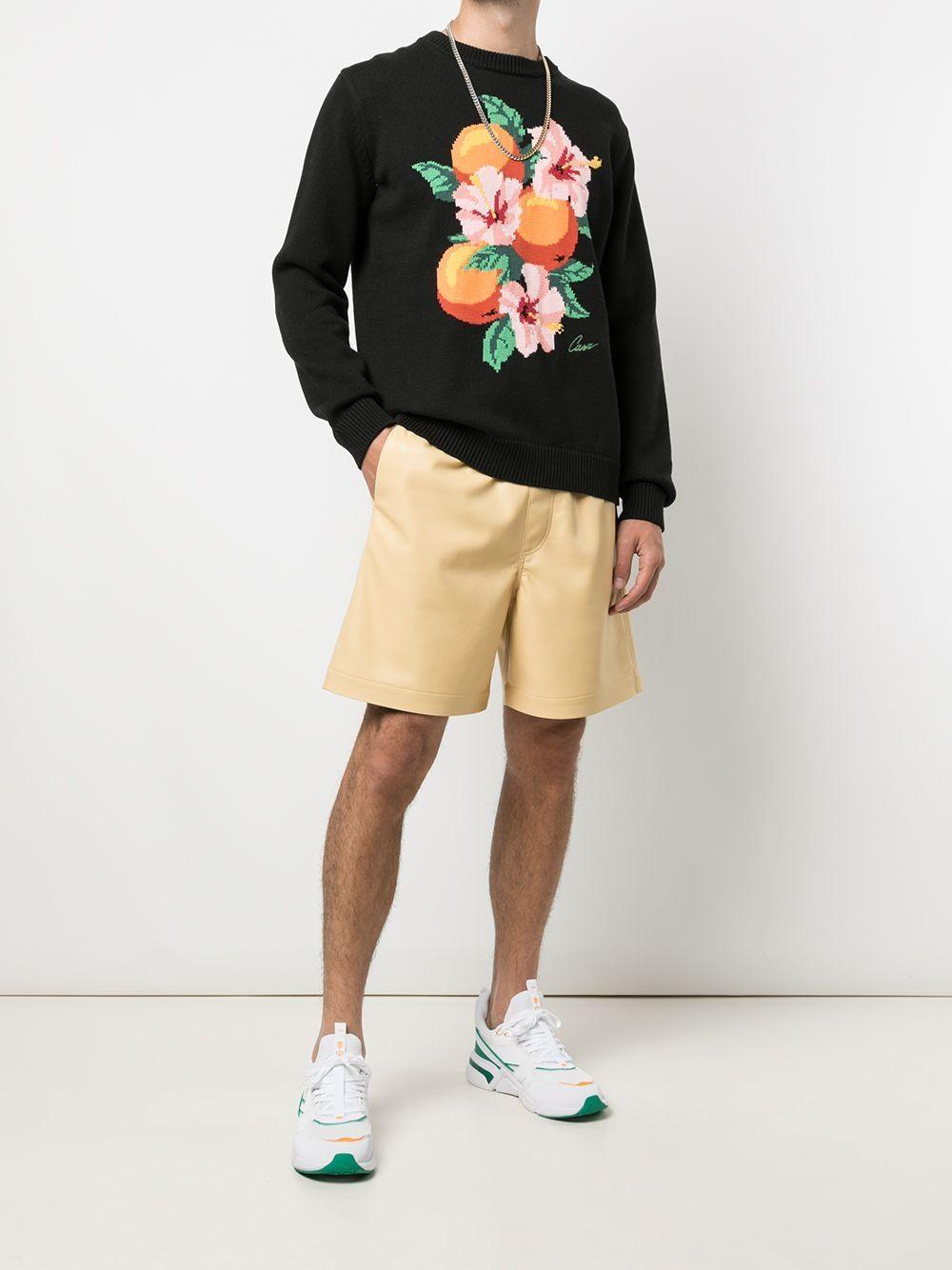 Casablanca maglione con stampa uomo nero CASABLANCA | Maglieria | MF21-KW-064BLACK