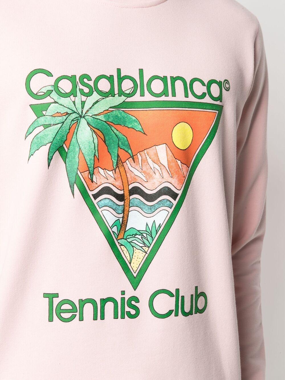 Casablanca felpa con stampa uomo rosa CASABLANCA | Felpe | MS21-JTP-001PINK