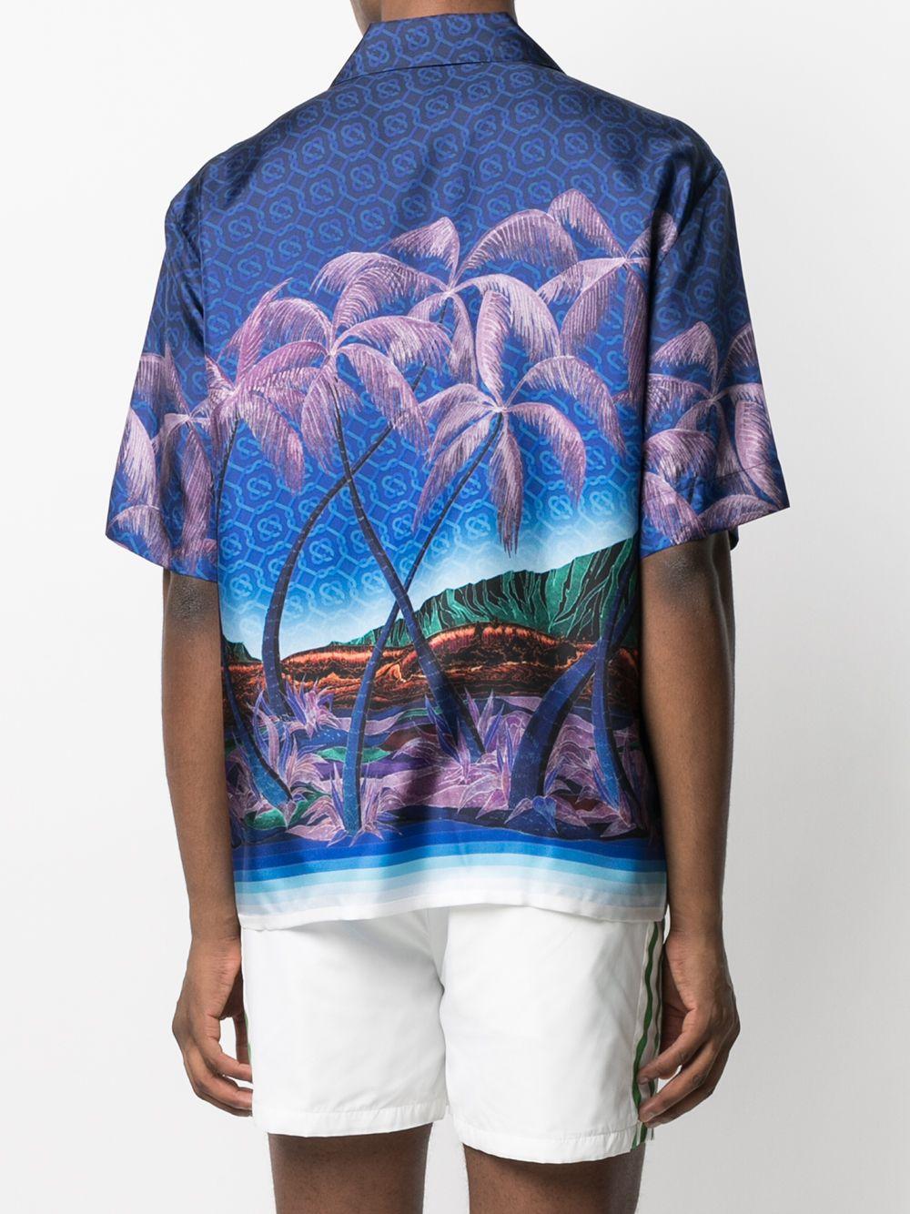 Casablanca camicia con stampa di palme uomo CASABLANCA   Camicie   MS21-SH-003NUIT