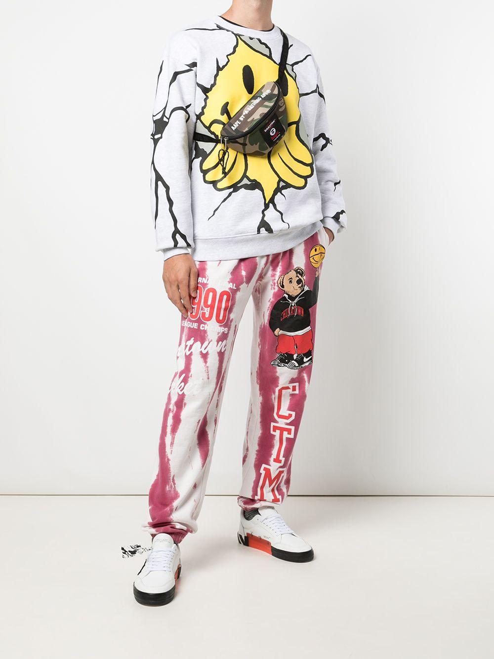 Chinatown market smiley dry wall breaker crewneck man CHINATOWN MARKET | Sweatshirts | 1960052ASH GRAY
