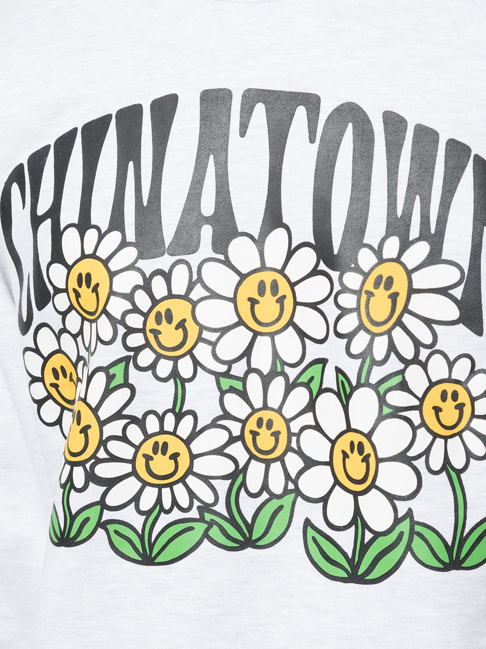Chinatown Market girocollo smiley flower power uomo grigio CHINATOWN MARKET | Felpe | 1960066ASH GRAY