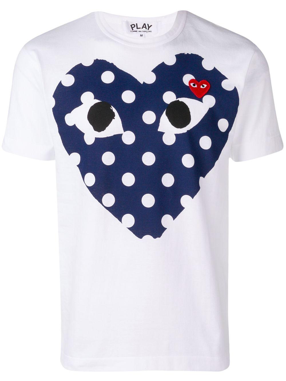 Comme Des Garçons Play t-shirt uomo bianco COMME DES GARÇONS PLAY | T-shirt | P1T234A