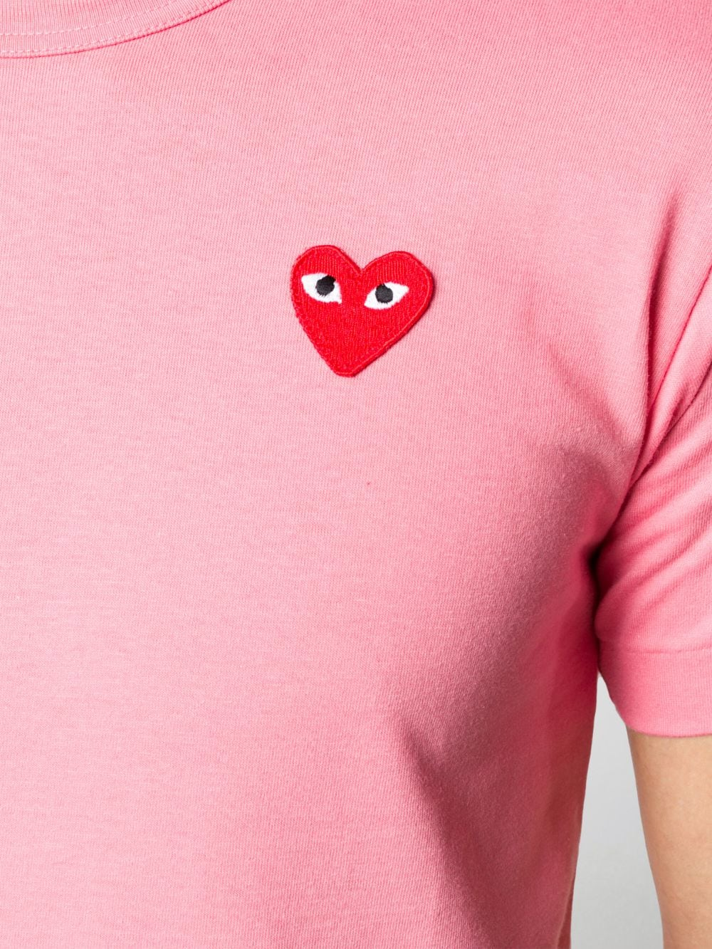 play t-shirt uomo rosa in cotone COMME DES GARÇONS PLAY | T-shirt | P1T2723