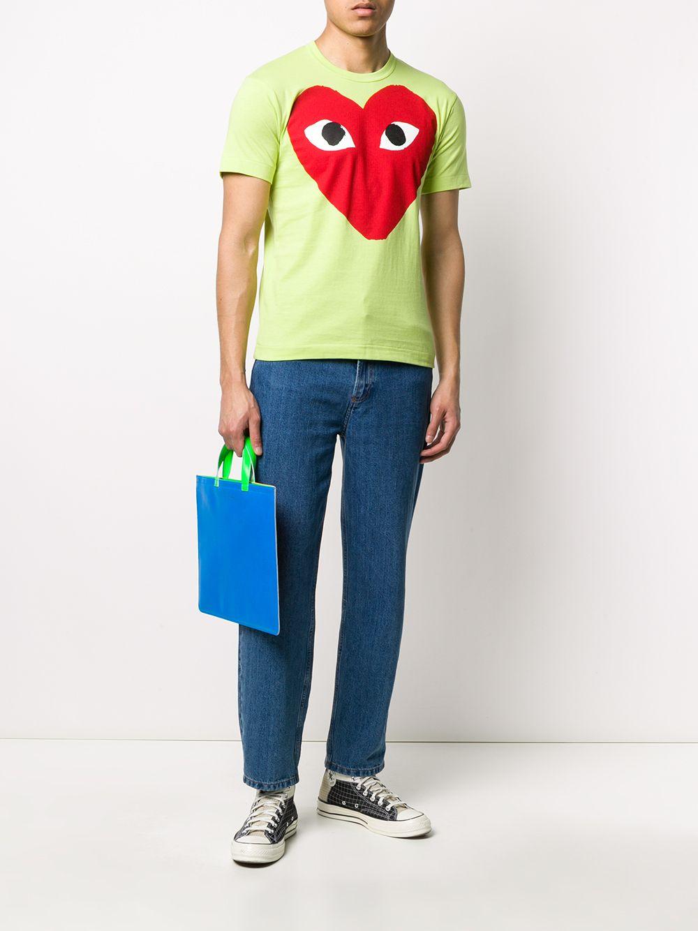 Coimme Des Garçons Play t-shirt man green COMME DES GARÇONS PLAY | T-shirts | P1T2742