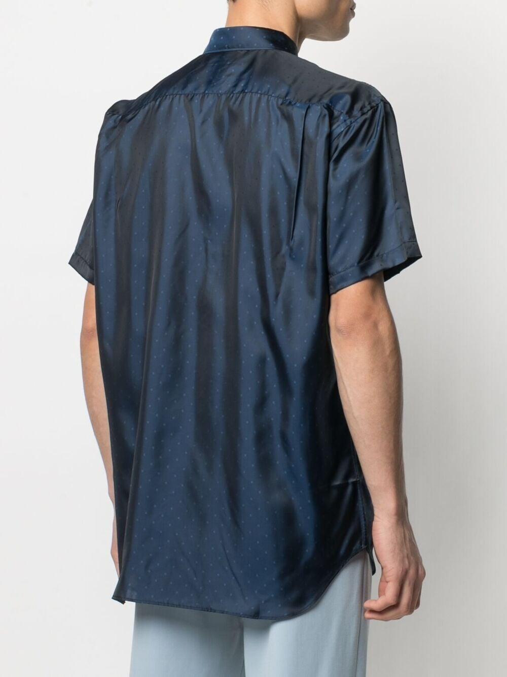 Comme Des Garçons camicia con stampa a pois uomo COMME DES GARÇONS SHIRT | Camicie | FG-B078BLUE
