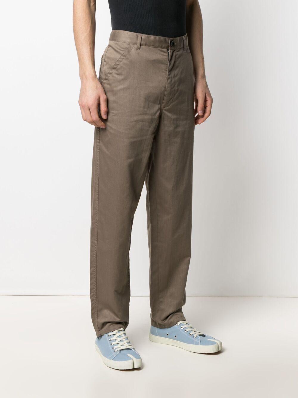 Comme des garçons pantaloni a gamba dritta uomo COMME DES GARÇONS SHIRT | Pantaloni | FG-P004KHAKI