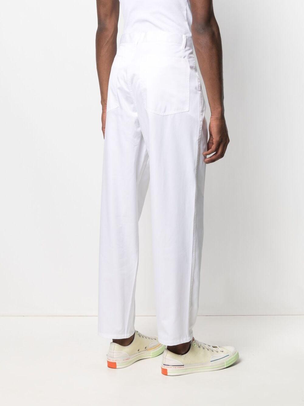 Comme Des Garçons Shirt high rise straight leg trousers man white COMME DES GARÇONS SHIRT | Trousers | FG-P015WHITE