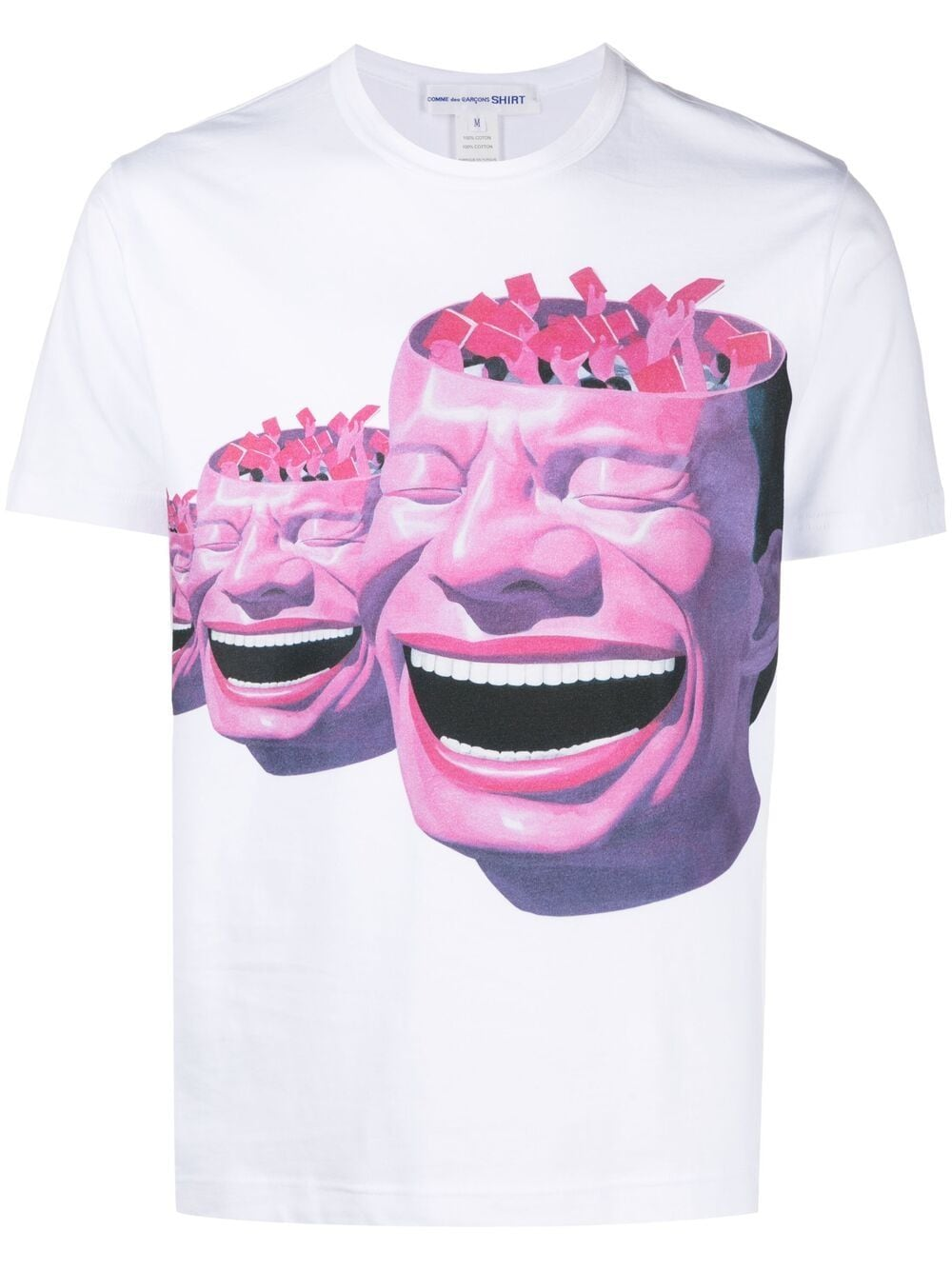 Comme Des Garçons Shirt t-shirt uomo bianco COMME DES GARÇONS SHIRT | T-shirt | FG-T003WHITE/PRINTE