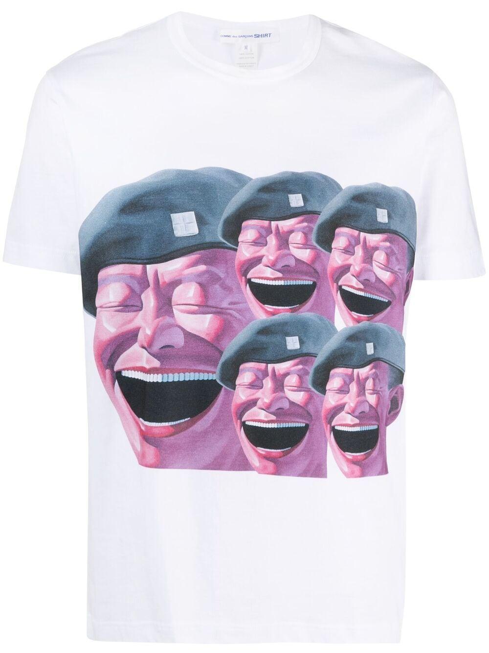 Comme Des Garçons Shirt t-shirt uomo bianco COMME DES GARÇONS SHIRT   T-shirt   FG-T003WHITE/PRINTF
