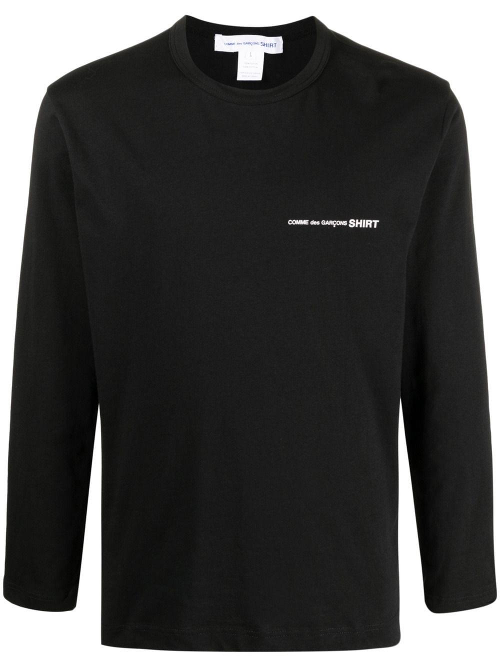 Comme des garçons t-shirt manica lunga uomo COMME DES GARÇONS SHIRT | T-shirt | FG-T017BLACK