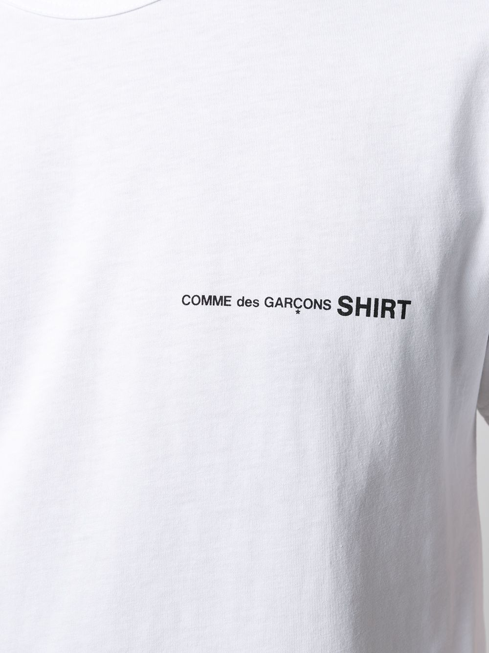 Comme des garçons printed logo t-shirt man COMME DES GARÇONS SHIRT | T-shirts | FG-T018WHITE
