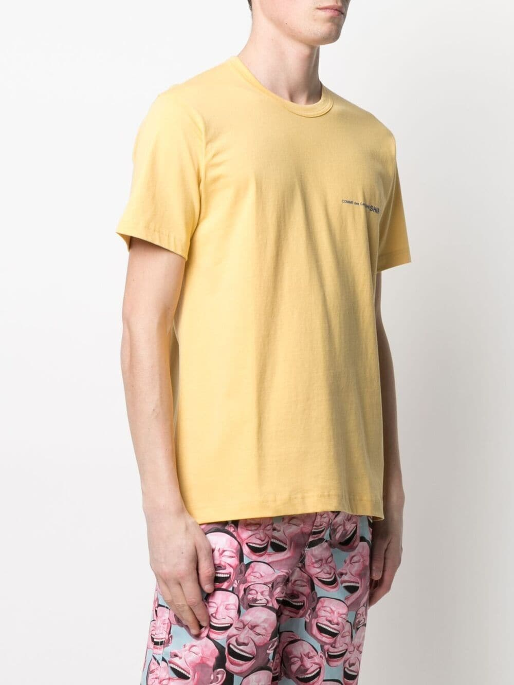Comme Des Garçons Shirt t-shirt con logo stampato uomo COMME DES GARÇONS SHIRT | T-shirt | FG-T020YELLOW