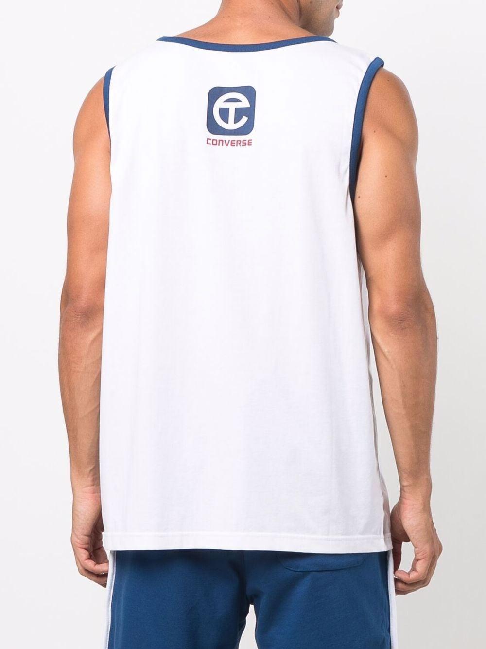 canotta con logo uomo bianca in CONVERSE X TELFAR | T-shirt | 10022843-A01WHT