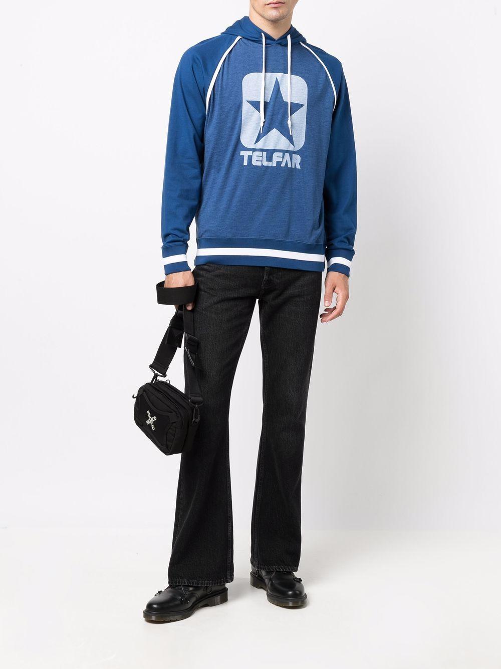 logo hoodie man blue CONVERSE X TELFAR | Sweatshirts | 10022845-A01NPWR