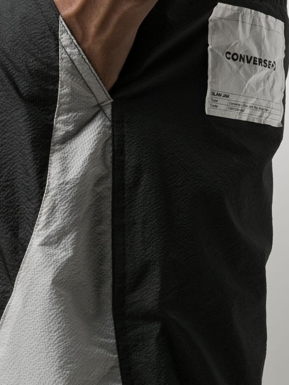 Converse X Slam Jam pantaloni ripstop uomo nero CONVERSE X SLAM JAM | Pantaloni | 10022284-A02PBK