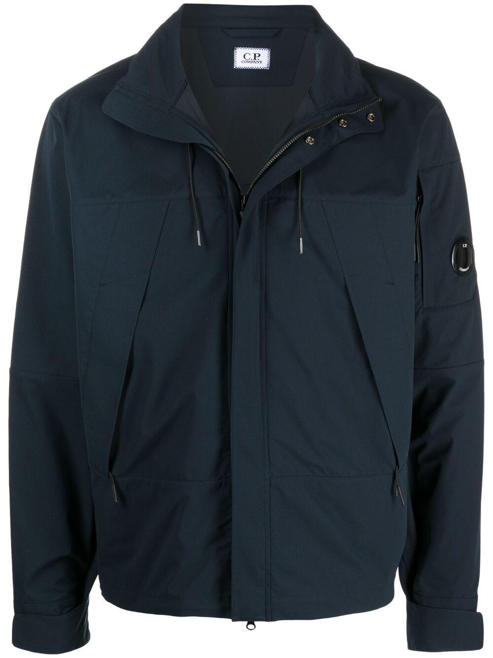 C.P. Company giacca con patch logo uomo blu C.P. COMPANY   Giacche   10CMOW017A004117A888