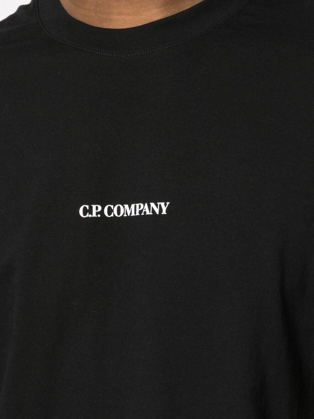 C.P. Company printed logo t-shirt man black C.P. COMPANY | T-shirts | 10CMTS213A006011W999