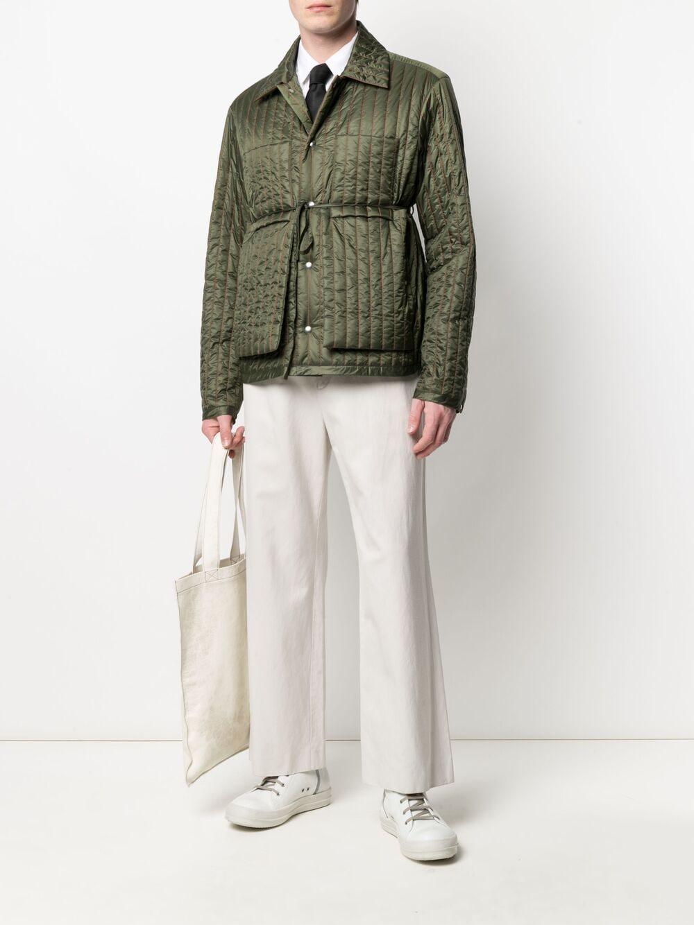 Craig green giacca imbttita con vita annodata uomo CRAIG GREEN | Giacche | CGSS21CWOJKT01GREEN
