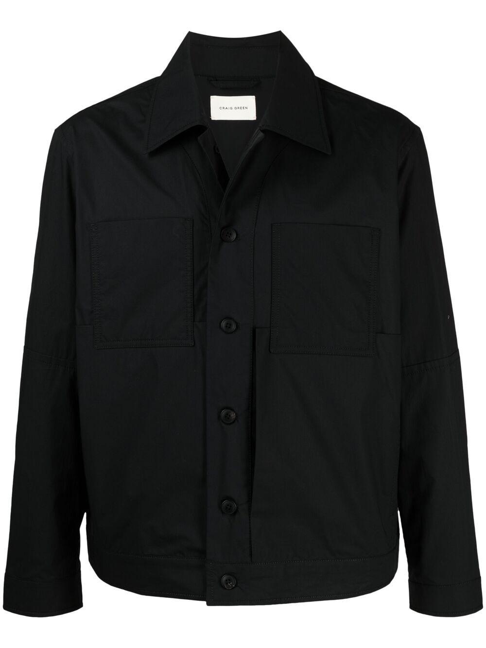 Craig green pointed collar shirt jacket man CRAIG GREEN | Jackets | CGSS21CWOJKT13BLACK