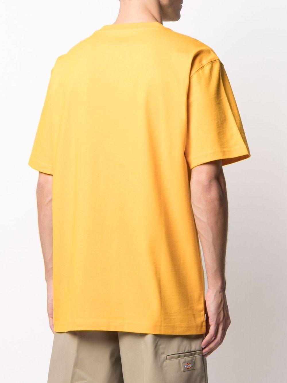 t-shirt con taschino uomo arancione in cotone DICKIES | T-shirt | DK0A4TMOB591